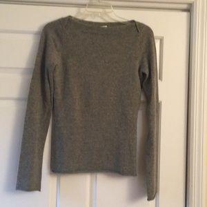 JCrew cashmere boatneck gray sweater